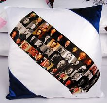 fancy square shape sublimation pillow case for chair