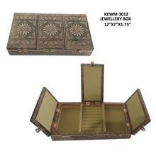 Golden Metal Copper Jewelry Box