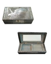 White Metal Silver Jewelry Box