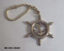 Nautical Wheel Keychain
