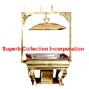 Square Brass Chafing Dish