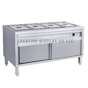 Bain marie with cabinet 180 cm