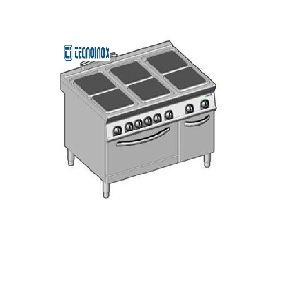Electric 6 Square Hotplate On Oven Tecnoinox
