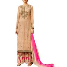 Georgette Indo Western Style With Chiffon