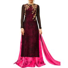 Georgette Indo Western Suit With Chiffon Dupatta