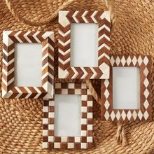 Wood And Resin Decorative Photo Frame