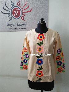 Mexican Embroidery Long Sleeve Blouse