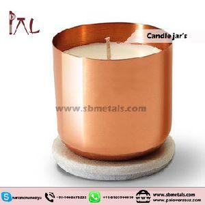 Copper Candle Glass Jar