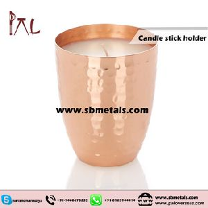Pint Type Copper Candle Holder