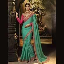 Silk Wedding Wear Resham Work Saree