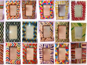 Colored Bone Inlay Designer Photo Frames