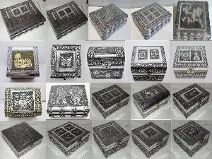 Silver Metal Gift Boxes