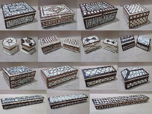 Wood With Bone Horn Inlay Colonial Collections Boxes
