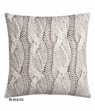 Hand Knitted Cotton Cushion Cover