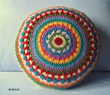 Hand Knitted Cushion Cover Round
