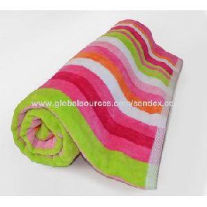 Printed Velour Beach Towel