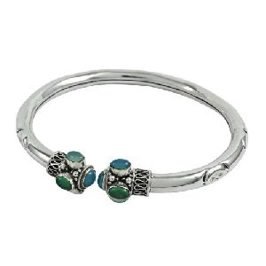 Lovely Green Onyx Gemstone Sterling Silver Jewellery