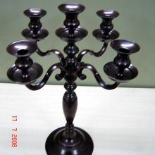 Black Candelabra With 5 Lights