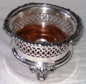 Wine Bottle Coaster Brass Copper Silver