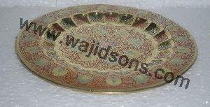 Brass Decorative Round Tray