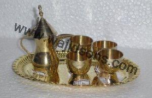 Brass Tea Pot Set
