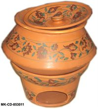Ceramic Earthenware Look Chafing Dish