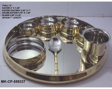 Copper And Stainless Steel Bhojan Thaal