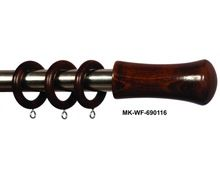 Curtain Rod Finial and Rings Set