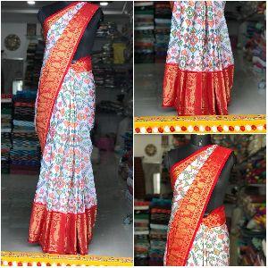 Pochampally Single Ikat Handloom Saree