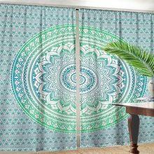 Barmeri Mandala Cotton Window Door Cover Curtain