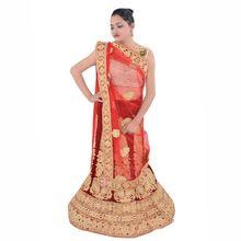 Gold Work Bridal Heavy With Blouse Handwork Freesize Lehenga
