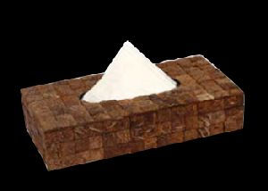 Coconut Shell Tissue Box