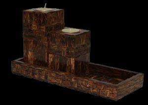 Taadi Wood Tea Light Holder