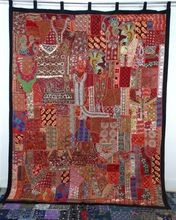 Handmade Patchwork Curtains,Cotton Indian Style