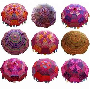Threadwork Decorative Umbrella,Tribal Indian Ethnic Handmade