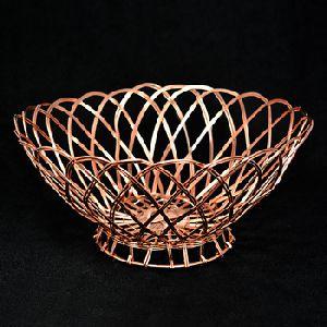 Aluminum Wire Weaving Round Storage Basket