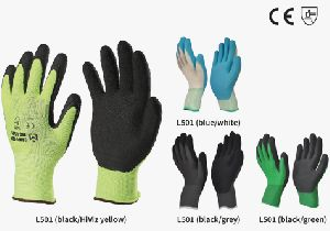 Nylon Or Polyestore Gloves With Foam Latex Coating (comfy-grip)