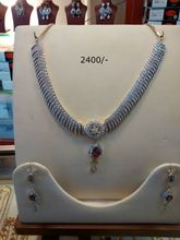 American Diamond Necklace Pendant Set