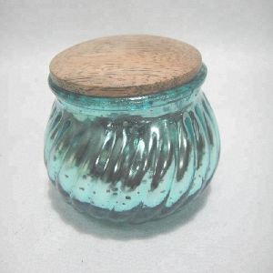 Antique Glass Paraffin Wax Candle Jar