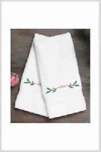 Embroidered White Hand Towels