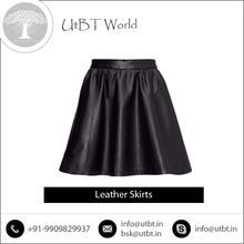 Traditionally Made Fashionable Leather Skirt
