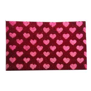 PVC Backed Heart Print Coir Mat 02