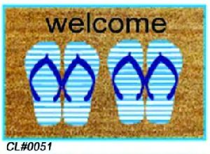 PVC Backed Welcome Coir Mat 02