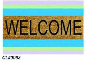 PVC Backed Welcome Coir Mat 03
