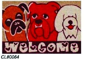 PVC Backed Welcome Coir Mat 06