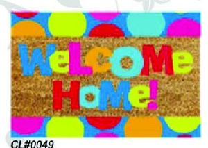 PVC Backed Welcome Coir Mat 07