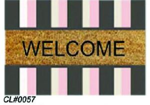 PVC Backed Welcome Coir Mat 08