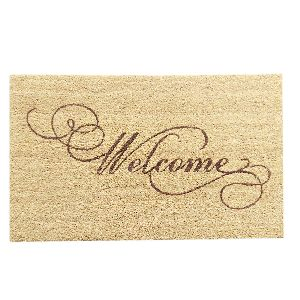 PVC Backed Welcome Coir Mat 11