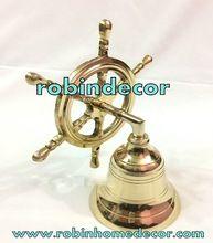 Antique Brass Wheel Bell