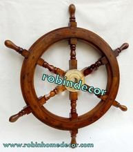 Brass Ship Steering Wheel